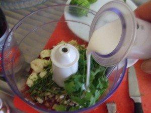 ajouter lait de coco