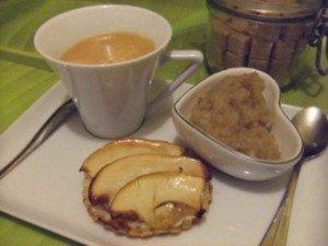 20150123 - tartelette pomme chataigne - dessert simple et rapide