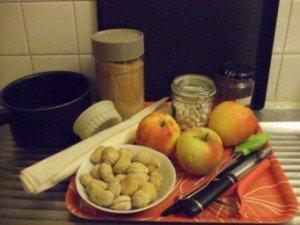20150123 - tartelette pomme chataigne - ingrédients