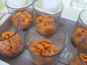 20150220 - Verrine crabe patates douces agrumes - purée poche