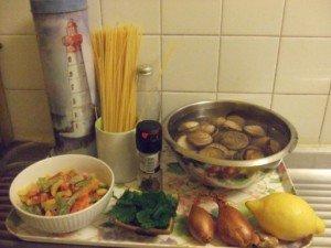 20150413 - Spagetti amande - Ingrédients