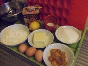 20150426 - Madeleines au kumquat confit - Ingrédients