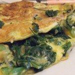 20150426 - Omelette au choy sum - Et voilà !
