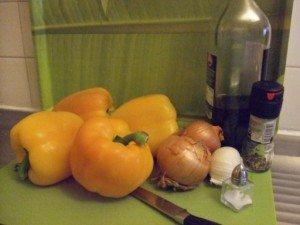 20150508 - Poivron orange - Ingrédients