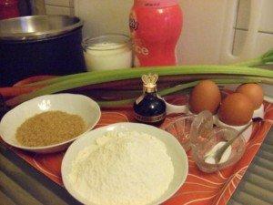 20150515 - Clafoutis rhubarbe - Ingrédients