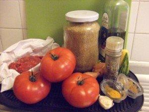 20150613 - Tomates farcies épicées - Ingrédients