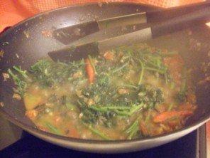 20150712 - Fricasée de morelle - wok 2