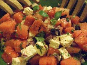 20150718 - Salade de pastèque, feta et olives noires- Et voilà !