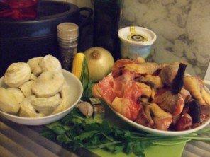20150727 - Pintade miel & artichauts - Ingrédients