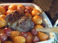 20150913 - Agneau prunes miel - pendant cuisson