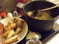 20151016 - Soupe de poulet et langue d'oiseau - Faire revenir ...