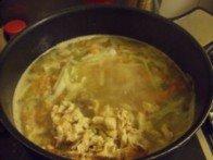 20151016 - Soupe de poulet et langue d'oiseau - Remettre la viande de poulet dans le bouillon