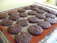 20151025 - Sablés chocolat amande - cuisson 8mn