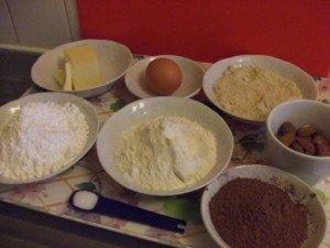 20151025 - Sablés chocolat amande - Ingrédients