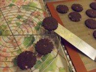 20151025 - Sablés chocolat amande - Refroidir sur une grille