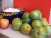 20151122 - Conf tomates vertes - Ingrédients
