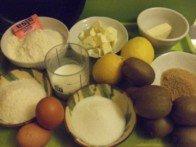 Gateau noix de coco kiwi