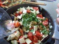 20171013 - Fondant de poulet au jus de couscous - Commencer cuisson légumes