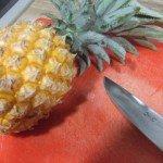 20171209 - Buche praliné ananas - découper 1
