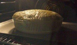 20180112 - Gâteau de chou aux deux poissons - cuisson