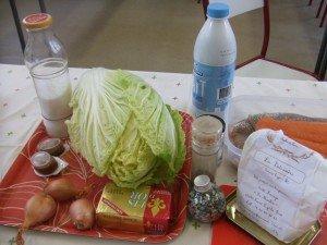 20180112 - Gâteau de chou aux deux poissons - Ingrédients